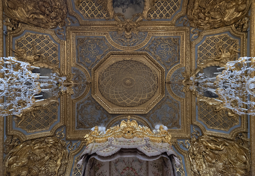 plafond grand appartement de la reine restauré