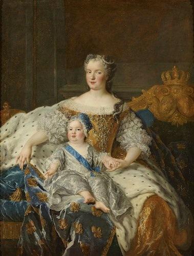 Marie Leszczynska et les enfants royaux