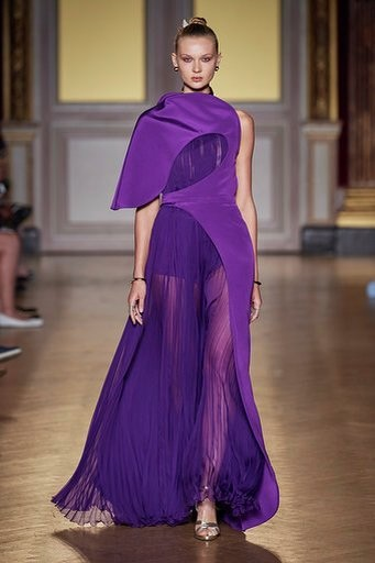 antonio grimaldi fw 19 robe du soir violette