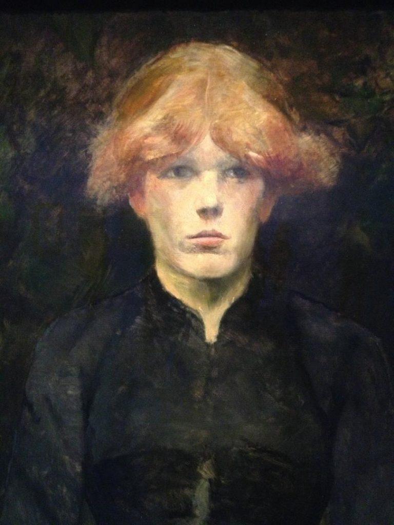 Toulouse Lautrec moderne et intime portrait rousse