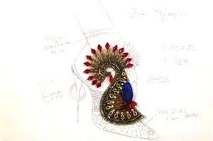 Christian Louboutin : l'Exhibition[niste] épopée du Shiva de l'escarpin soulier esquisse