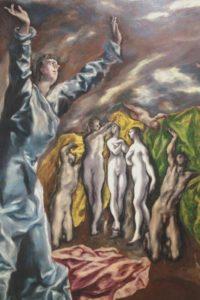 Exposition Greco -Grand Palais : le migrant magnétique ouverture du cinquieme sceau
