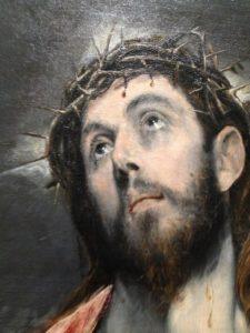"""Exposition Greco : Guillaume Kientz """"Le Greco échappe à tout sauf à l'admiration"""" detail christ"""